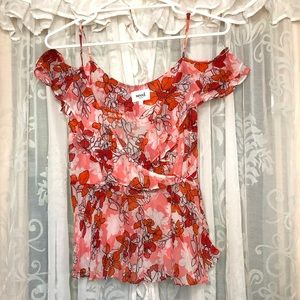 LIKE NEW! SEED HERITAGE Floral red & pink cami singlet blouse
